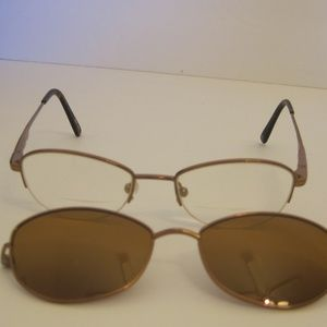 Eyeglasses Clip On Sunglasses 46 17 140 Vintage, used for sale